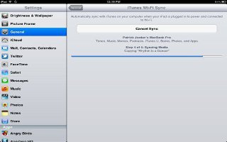 How To WiFi Sync With iTunes On iPad Mini