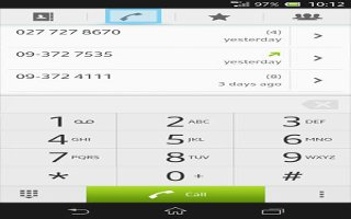 How To Use Recent Calls On Sony Xperia Z