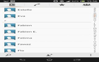 How To Communicate With Contacts On Sony Xperia Z