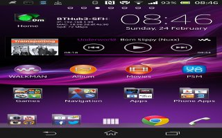 How To Use Home Screen On Sony Xperia Z