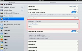 How To Use Side Switch On iPad Mini