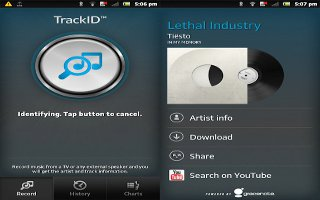 How To Use TrackID Technology Results On Sony Xperia Z