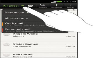 How To Search Email Messages On HTC One