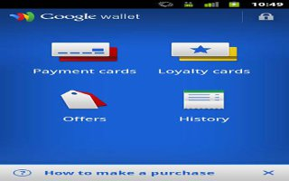 How To Use Wallet On Sony Xperia Z