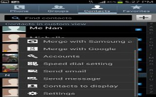 How To Access Address Book Options On Samsung Galaxy S4