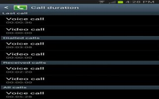 How To Use Call Duration On Samsung Galaxy S4