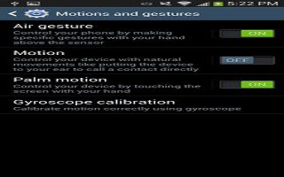 How To Use Motion On Samsung Galaxy S4