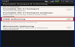How To Share HTC One Internet Connection By USB Tethering