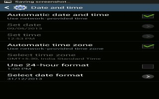 how to change timezone on galaxy s4