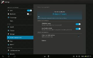 How to Use STAMINA Mode On Sony Xperia Tablet Z