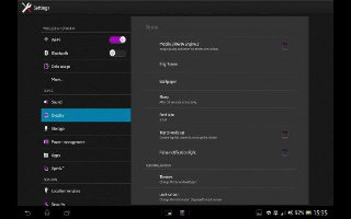 How To Customize Display Settings On Sony Xperia Tablet Z