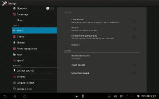 How To Customize Sound Settings On Sony Xperia Tablet Z
