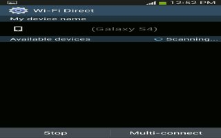 How To Use WiFi Direct On Samsung Galaxy S4