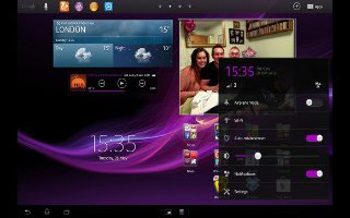 How To Use App Menu On Sony Xperia Tablet Z