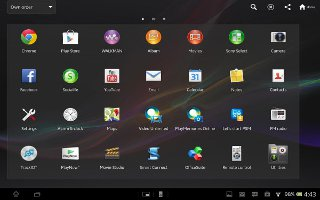 How To Use Apps Screen On Sony Xperia Tablet ZHow To Use Apps Screen On Sony Xperia Tablet Z