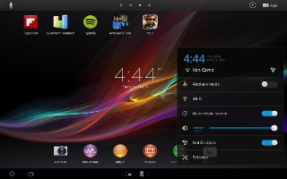 How To Rearrange Home Screen On Sony Xperia Tablet Z