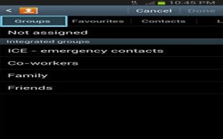 How To Use Groups In Contacts - Samsung Galaxy Tab 3