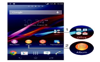 How To Use Shortcuts - Sony Xperia Z Ultra