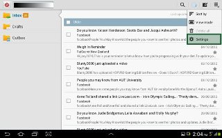 How To Use Email Settings - Samsung Galaxy Tab 3