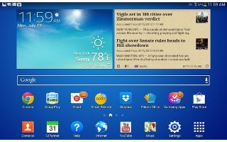How To Customize Home Screen - Samsung Galaxy Tab 3