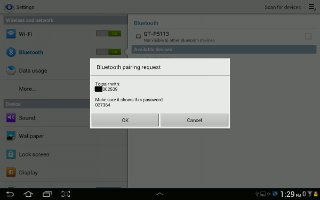 How To Send Data With Bluetooth Device - Samsung Galaxy Tab 3
