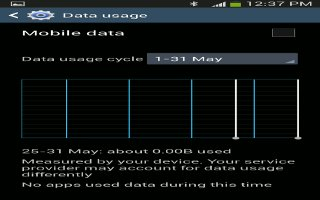 How To Use Data Usage - Samsung Galaxy Note 3