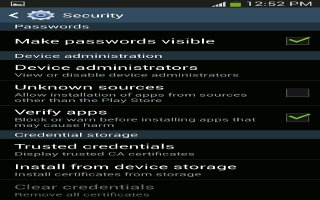 How To Make Passwords Visible - Samsung Galaxy Note 3