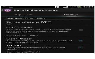 How To Enhance Sound Output - Sony Xperia Z Ultra