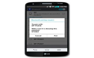 How To Use Bluetooth Settings - LG G2
