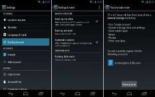 How To Use Backup and Reset - LG G Pad