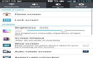 How To Use Display Settings - LG G Pad
