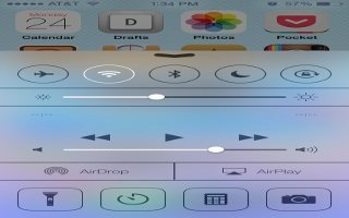 How To Use Control Center - iPhone 5S