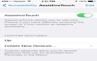 How To Use Assistive Touch - iPhone 5S
