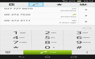 How To Use Call Log - Sony Xperia Z1