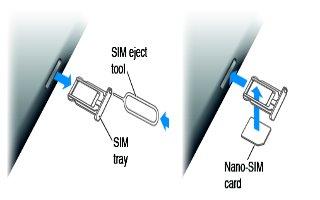 How To Insert SIM Card - iPad Air