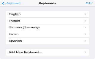 How To Add Keyboard - iPad Air