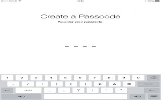 How To Use Passcode - iPad Air