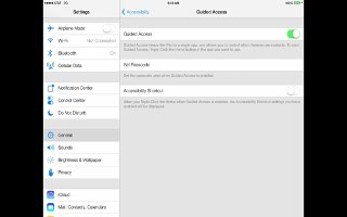 How To Use Guided Accessibility - iPad Air