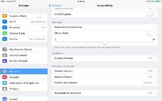 How To Use Switch Control - iPad Mini 2