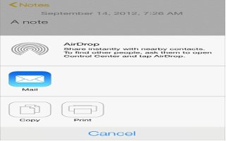 How To Use AirDrop - iPhone 5C