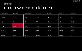 How To Use Calendar - Nokia Lumia 720