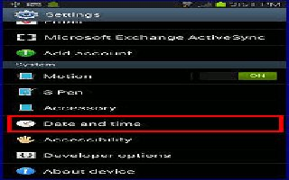 How To Customize Date And Settings - Samsung Galaxy Note 3