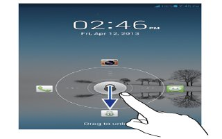 How To Lock And Unlock Screen - Huawei Ascend Mate