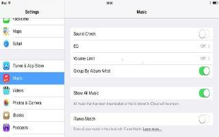 How To Use Music Settings - iPad Mini 2