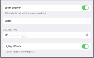 How To Use Speak Selection - iPad Mini 2