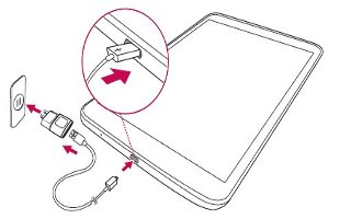 How To Charge Tablet - LG G Pad