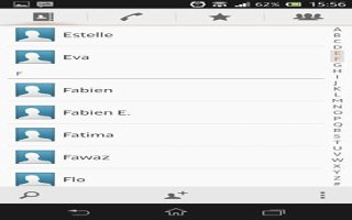 How To Use Favorites And Groups - Sony Xperia Z Ultra