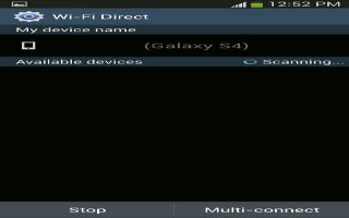 How To Use WiFi  Direct Settings - Samsung Galaxy Tab 3