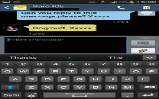 How To Use Messages - Samsung Galaxy Tab 3