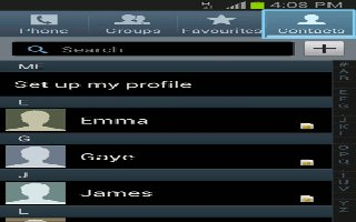 How To Use Favorite Contacts - Samsung Galaxy Tab 3